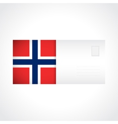 Envelope with Norwegian flag card vector image