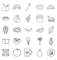 Fare icons set outline style vector