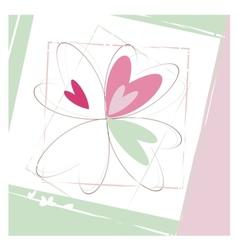 Four hearts vector