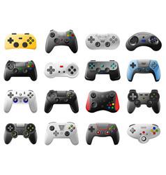 game controller video console retro vector image