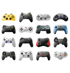 game controller video game console retro vector image