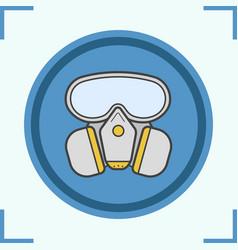 Gas mask color icon vector