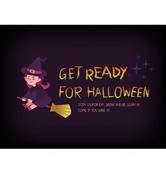 Get ready for halloween vector