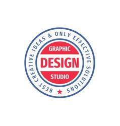 Graphic design studio - concept logo circle vector