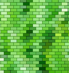 Grass themed background with brick grid vector image