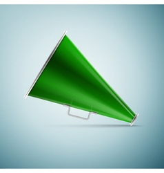 Green megaphone icon isolated on blue background vector