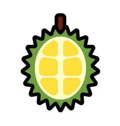 Half durian linecolor vector