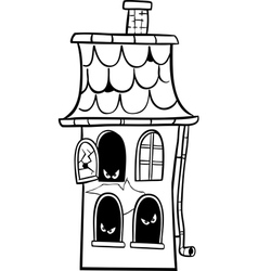 Haunted house cartoon for coloring vector
