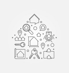 house shape - real estate vector image