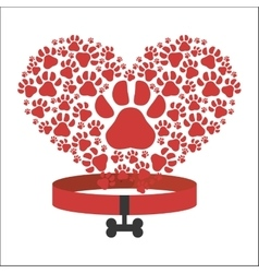 I love pets heart poster vector