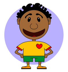 illstration of the cheerful and smiling character vector image
