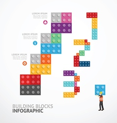 Infographic Template step building blocks banner vector image