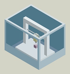 Isometric 3D printer vector