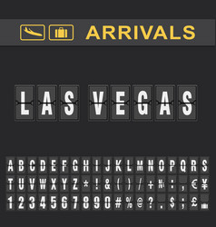 Las vegas airport time table for departures and vector