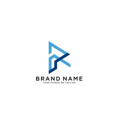 Letter r and finance logo design vector