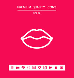 Lips linel icon graphic elements for your design vector