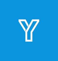 logo letter y white vector image