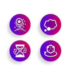 loyalty points talk bubble and hourglass icons vector image