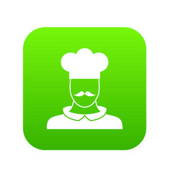 male chef cook icon digital green vector image