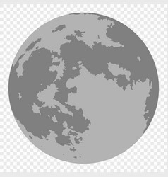 map of moon isolated vector image