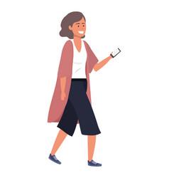Millennial person using smartphone vector