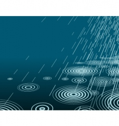 night rain vector image