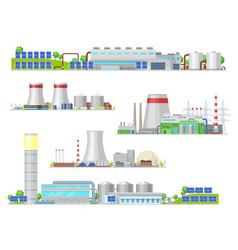 nuclear and power plant gas station buildings vector image