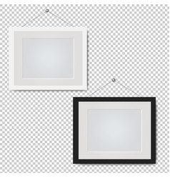picture frame set isolated transparent background vector image