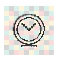 Pixel icon megaphone on a square background vector