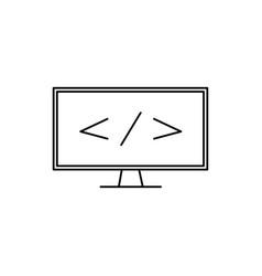programming monitor icon vector image