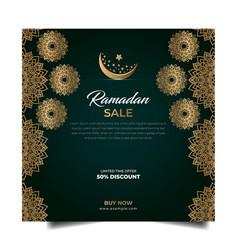 Ramadan instagram post feed design vector