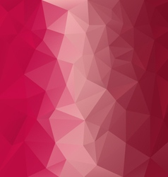 Red pink magenta polygonal triangular pattern vector