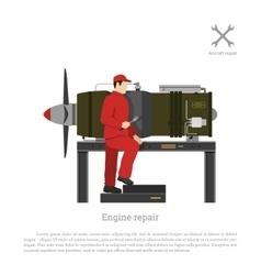 Repair and maintenance of aircraft vector image