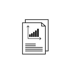 report text file icon document with chart symbol vector image