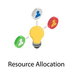 Resource allocation vector