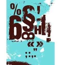 Retro grunge style poster with typographic signs vector