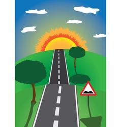 Road to horizon vector