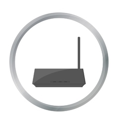 Router icon in cartoon style isolated on white vector image
