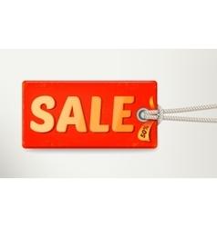 Sale tag design vector image