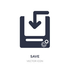 Save icon on white background simple element from vector