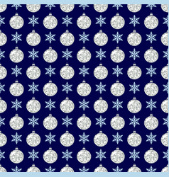 Seamless pattern with snowflakes and glittering vector