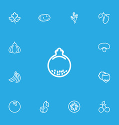 Set of 13 editable cookware outline icons vector