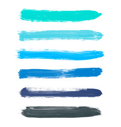 Set of turquoise blue indigo black watercolor vector