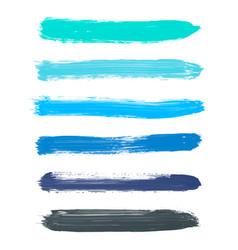 Set turquoise blue indigo black watercolor vector