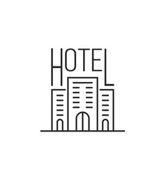 simple thin line luxury hotel icon vector image