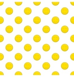 Smiley face pattern cartoon style vector image