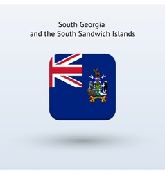 South Georgia and South Sandwich Islands flag icon vector image