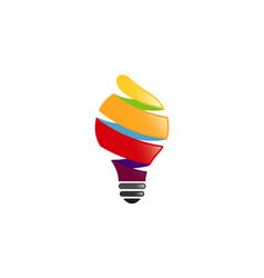 spiral idea logo vector image