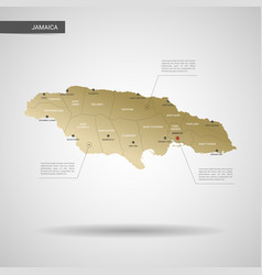 stylized jamaica map vector image