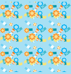summer beach umbrellas seamless pattern vector image